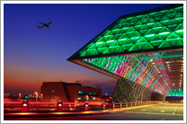 Photo: LEDs are increasingly used in lighting solutions, here in an airport